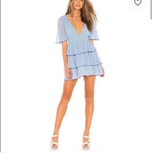 Lovers + Friends Billie Mini Dress in light blue
